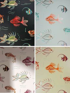 Aquarium by Nina Campbell for Osborne and Little Nina Campbell, Patterns, Aquarium Collection, Aquarium Wallpapers, Google Search, Fabrics, ...