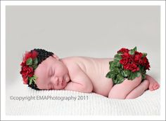 DIY Rose Covered Bloomers for newborns PDF pattern ~ no sewing, I could even make these!