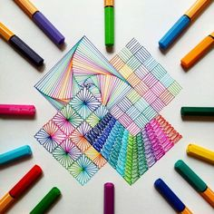 Precision in Geometric Mandala Drawings. Click the image, for more art from lady_meli_art. Zentangle 4 connected squares - Geometric Art by ladymeliart Mandalas, Zentangles. Dibujos Zentangle Art, Zentangle Drawings, Doodle Drawings, Doodle Art, Doodle Ideas, Doodles Zentangles, Zen Doodle, Mandala Art, Mandala Drawing
