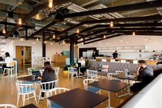 Step inside GridAKL, New Zealand's first and largest co-working campus, located in Auckland's Wynyard Quarter. Staff Room, Co Working, Step Inside, Workplace, Kitchen Design, Kitchens, Chairs, Range, Suit