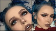 easy cool-toned grunge makeup tutorial