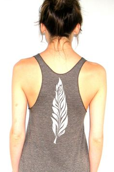 Feather  American Apparel Racerback Tank Top  XS by FeistyFashion, $18.00