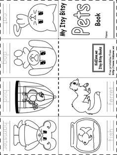preschool pet theme worsheets - Google Search