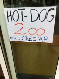 HOT DOG 2.00 CON IL CHECIAP