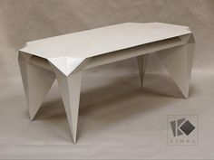 ORIGAMI Coffee Table from Kinkl for Shop with global insured delivery at Pamono. Table Origami, Wooden Crates, White Paints, Contemporary Design, Furniture, Home Decor, Art, White Shellac, Steel