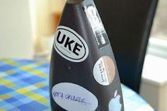 fluke ukulele back with stickers