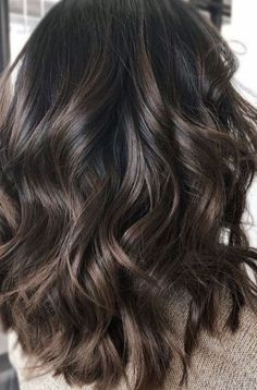Espresso Base with Hazel Ribbons - 60 Chocolate Brown Hair Color Ideas for Brunettes - The Trending Hairstyle Brown Hair Balayage, Brown Ombre Hair, Brown Hair With Highlights, Brown Hair Colors, Bayalage, Brown Hair Shades, Light Brown Hair, Dark Hair, Dark Brunette Hair