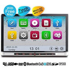 YINUO Touch Display Automobile Stereo 7-Inch 800 * 480 HD In-Dash Automobile GPS Navigating A/V receiver with SD USB DVD 1080P Video clip iPod apple iphone AV-IN Wheel Control Bluetooth Ready - http://onlinebusiness-rc.com/carstereo/yinuo-touch-screen-car-stereo-7-inch-800480-hd-in-dash-vehicle-gps-navigation-av-receiver-with-sd-usb-dvd-1080p-video-ipod-iphone-av-in-steering-wheel-control-bluetooth-ready/