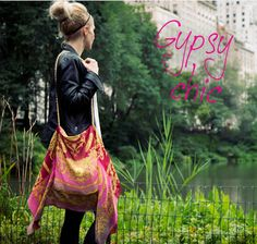 Gypsy Chic Scarf Bag - Free Sewing Tutorial by Trinkets in Bloom