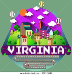 VIRGINIA - City vector illustration - stock vector