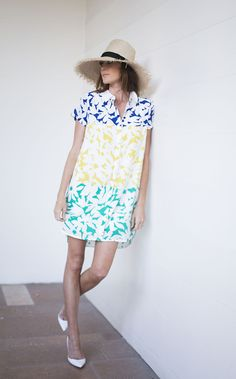 Repin Via: Could I Have That? in the Blocked Blooms Shirtdress by WHIT Two #Anthropologie