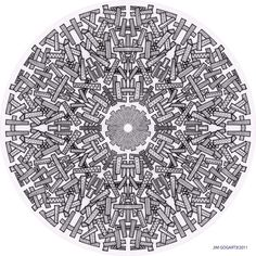 This mandala was designed to be downloaded and printed on LARGE paper (A3 minimum). Might be worth getting a print on A2 at your local printers or buying one here This is just one of the many new d...