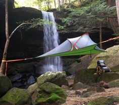The Tentsile Connect Tree Tent is designed for 2 people to experience comfort and versatility of a camping hammock, with the security and protection of a waterproof tent. The Connect gives you a whole new level of camping freedom. Family Tent, Family Camping, Camouflage, Tent Camping Beds, Glamping, Tree Tent, Connect, Waterproof Tent, Rain Fly