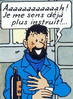 Le whisky est indissociable du kilt. -- Insultes du Capitaine Haddock. -- Pour connaître le sens de ses insultes pittoresques, cliquez deux fois.