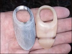 Making an archer's thumb ring with cow, horn antler or bone