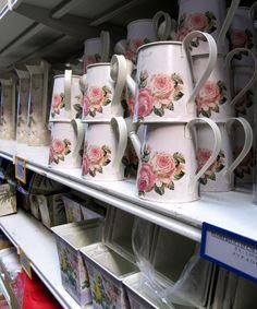 RÉCIPIENTS en ZINC pour fleurs: vases, pichets, seaux, arrosoirs...