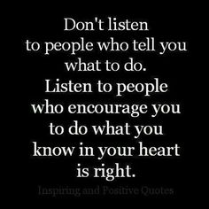Do what you know is right...
