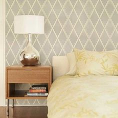 Wall Stencils | Nova Trellis Stencil | Royal Design Studio  I love everything about this.