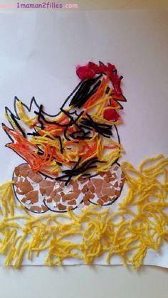 1maman2filles activité 1 poule de pâques
