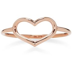 Jordan Askill Rose Gold Delicate Heart Ring (3.264.625 IDR) ❤ liked on Polyvore featuring jewelry, rings, jordan askill, concrete jewelry, red gold jewelry, rose gold heart ring and rose gold rings