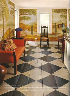 painted wood floors ideas | More Small galley kitchens, Painted ...