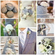 Burgh Brides Color Palette Inspiration - White and Blue Gray