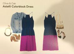 March 2015 Stitch Fix - Olive & Oak Colorblock Dress - #stitchfix