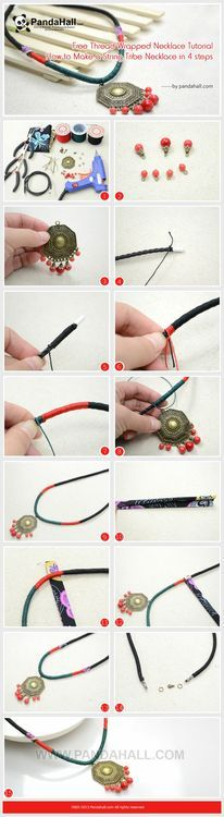 Jewelry Making Tutorial-How to Make a String Wrapped Tribe Necklace | PandaHall Beads Jewelry Blog