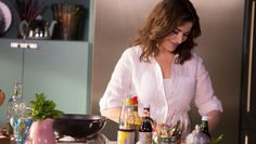 """Nigella Lawson's big TV comeback was met with a mixed reception, with viewers slating the """"domestic goddess"""" for spending too much time placing an avocado on toast. Simply Nigella, Deliciously Ella, Nigella Lawson, Just Bake, Breakfast Bars, Fish And Chips, Food For Thought, Granola, Wine Recipes"""