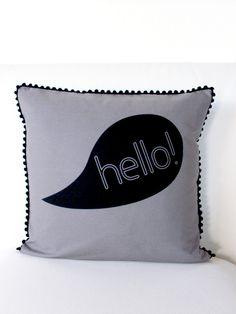 say hello – pillow