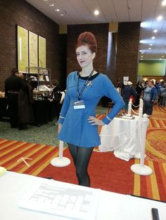 The skirt length is Starfleet Regulation. I wouldn't want to go against the admiralty.