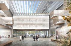 Galeria de Elizabeth de Portzamparc vence concurso para biblioteca em Aubervilliers - 3