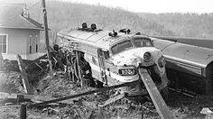 Train wreck at Cotter, AR in 1966 near Northfork, AR