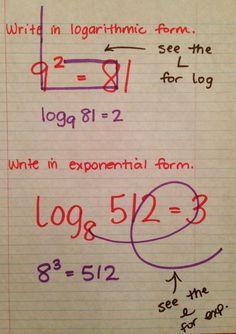 School of Fisher: Exponential & Logarithmic Form - Mathe Ideen 2020 Math Teacher, Math Classroom, Teaching Math, Love Math, Fun Math, Math Math, Math Fractions, Math Resources, Math Activities