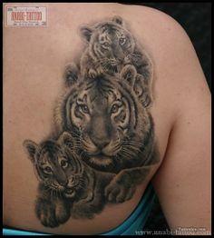 tiger tattoos   Tiger Family Tattoo