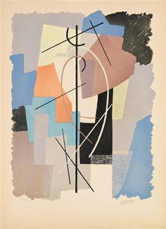 Gino Severini - Poésie algébrique, 1962, colour... on MutualArt.com