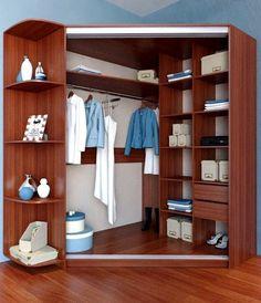 Corner Wardrobe Closet, Bedroom Wardrobe, Room Closet, Wardrobe Interior Design, Closet Layout, Bedroom Layouts, Closet Designs, Trendy Bedroom, Bedroom Small