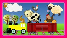 Farm Animals Songs For Children with Choo Choo Train, Educational Video for Kids by JeannetChannel