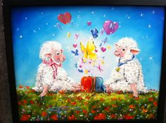Sole Mates - a Sheep Incognito Original oil painting
