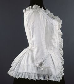 Musee Galliera, caraco jacket, 1770-1780, via http://demodecouture.com/1770s-camisole-a-la-polonaise/