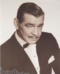 """Movie Stars of Old Hollywood: Clark Gable. Best known for his role in """"Gone with the Wind"""" and the phrase """"Frankly, my dear, I don't gve a damn"""""""
