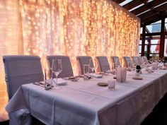 #wedding #esküvő #hochzeit #esküvődekoráció #weddindlights #lightcurtain Lights, Table Decorations, Furniture, Home Decor, Wedding, Decoration Home, Room Decor, Home Furnishings, Lighting