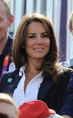 LONDON, ENGLAND - JULY 30:  Catherine, Duchess of Cambridge attends the Eventing Cross Country Equestrian event on Day 3 of the London 2012 Olympic Games at Greenwich Park on July 30, 2012 in London, England.