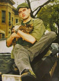 Peter Steele & a kitty!