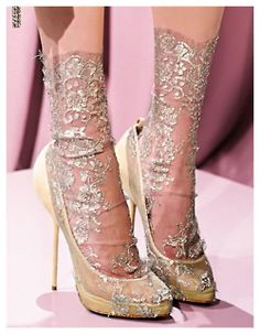 metallic socks