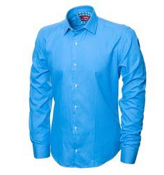 f9e50193d97e2b2 Синяя рубашка в магазине BeMad. Бесплатная доставка по Москве и РФ