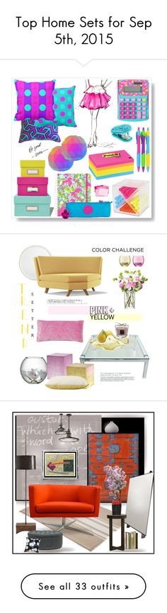 """Top Home Sets for Sep 5th, 2015"" by polyvore ❤ liked on Polyvore featuring Jonathan Adler, Post-It, Lilly Pulitzer, Kipling, interior, interiors, interior design, home, home decor and interior decorating"