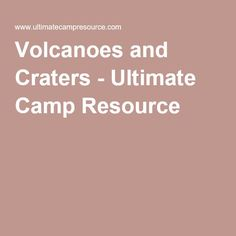 Volcanoes and Craters Game