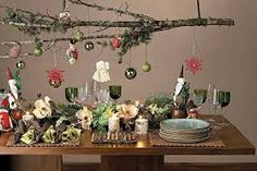 Christmas decor trends part 1 are changing as the year passes but there is traditional elements you will find it in red, green and white colors. Homemade Christmas Table Decorations, Christmas Buffet, Christmas Table Settings, Christmas Tablescapes, Noel Christmas, Christmas Centerpieces, Christmas Themes, All Things Christmas, Funny Christmas