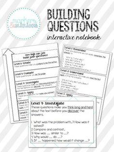 With Common Core, students should be able to answer and ASK questions about a text.One way I love to teach comprehension in my class is by teaching the kids how to generate their own questions about the text. I tell them that I will choose the 10 best questions and turn it into their reading quiz for that week.